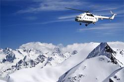 Helikopter in Skigebiet